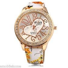 SLOGGI Female Casual Quartz Watch Leather with Big Arabic No Scales Heart