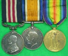 WW1 MILITARY MEDAL MM & PAIR, PTE KENT, 9th ROYAL FUSILIERS ,FROM RICKMANSWORTH