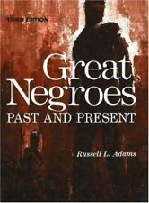 Great Negroes: Past and Present: Volume One-Third Edition-Hardcover--FREE S/H