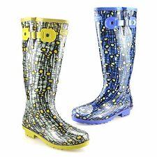 Ladies Womens Waterproof Wellies Winter Rain Snow Wellington Boots Shoes Size