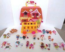Mini Lalaloopsy Lot 16 Dolls Bus Storage Case & 25 Pets & Accessories