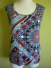 Ladies Womens Cap Sleeve Tank Top Shirt Blouse Long T-Shirt Rockmans Size XS (8)