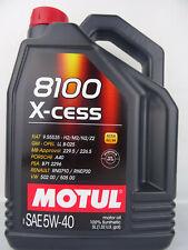 Motul 8100 X-Cess 5W40 Olio Motore 5W-40 VW 502.00 505.00 229.5 5 Litro