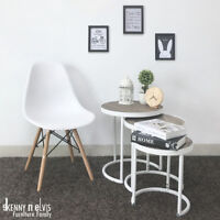 3-Piece Round Nesting Coffee Table (White)