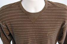 Izod Jeans men's M long sleeve t-shirt brown 100% cotton