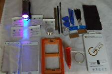 Altamente profesional Iphone 6S Blanco Cristal Frontal Kit de reparación con Cristal 4in1