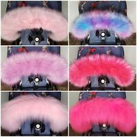 New Baby Pram Fur Hood Trim Girls Colours Pink Newborn Accesories Winter Furs