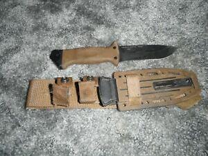 USMC Gerber LMF II Infantry Military Knife Fixed Blade Coyote Brown w/ Sheath