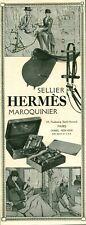 Publicité ancienne sellier Hermès maroquinier 1925 issue de magazine
