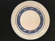 "Stoneware Blue Gray Plate Serving Tray Platter 12"" Diameter"
