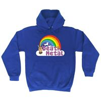 funny hoodies Death Metal Unicorn Rainbow HOODIE punk rock heavy hoody birthday