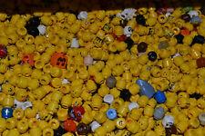 LEGO® Mischposten 10 Figuren Köpfe light flash City Pirat Bart Kopf bedruckt Neu