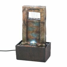 Cascading Water Tabletop Fountain with Soft Glowing Light & Pump Included Nice