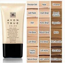 Avon True Color Ideal Nude Coverage Liquid Foundation Honey Beige Discontinu Nib