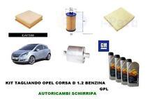 KIT TAGLIANDO FILTRI + OLIO ORIGINALE 5W30 OPEL CORSA D 1.2 BENZINA GPL Z12XEP