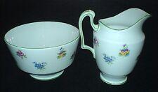 Crown Staffordshire Pink Rose / Pansy Jug + Sugar Bowl c1930 Patt15928