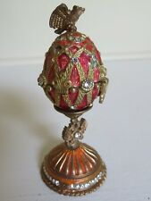 Faberge Egg Charm With Hidden Crown Pendant Charm Inside