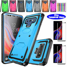 For Samsung Galaxy Note 9 Phone Case Shockproof Cover W/ Glass Screen Protector