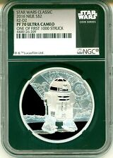 2016 Niue $2 Star Wars Classic R2-D2 One Of First 1000 Struck NGC PF70 UC