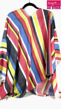 Rainbow Mexican Poncho Mexico Cowboy Wild West Fancy Dress Costume Party 12465
