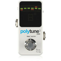 TC Electronic Polytune 3 Mini Polyphonic Guitar Effects Pedal Tuner