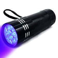 Lampe Torche UV 9 LED Lampe de Poche Séchage Résine Ongle insectes Lumière Noir