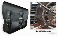 Bolsa Basculante Lateral Para Harley-Davidson® Softail® Swingarm Solo Bag Black