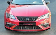 CUP Spoilerlippe SCHWARZ Seat Leon MK3 Cupra Facelift Front Schwert Ansatz Ver 2