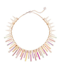 NWT Kendra Scott Kaplan ROSE GOLD Statement Collar Necklace in Multicolor RARE!