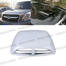 1x Car Air Flow Intake Hood Scoop Vent Bonnet Cover White Decorative sticker