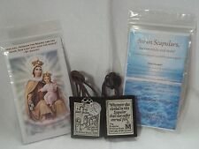 Brown Scapular Our Lady Mount Carmel Handmade & DURABLE- ALMOST UNBREAKABLE