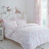 Modern Charlotte Thomas Amelie Bedding Pink Duvet Set Pillowcases and Curtains