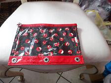 Vera Bradley Frill LOL 3 Hole pencil pouch in Poppy Fields