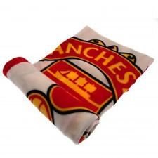 Manchester United FC Official Crested Fade Fleece Blanket Throw Gift Present