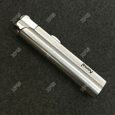 Windproof  Jet  Torch Butane Flame Cigar Cigarette Lighter w/ Lock Silver