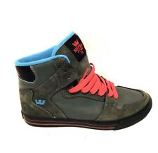 Supra High Tops Gray And Red Men's US Size 6.5