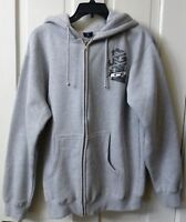 New GT JACKET Gray MENS SMALL Zip-Up Hoodie Sweat Shirt Zipper BMX Bicycles