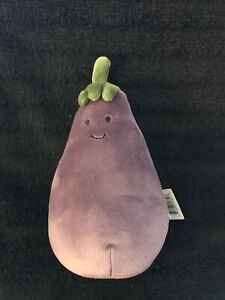 Jellycat Eggplant Plush Toy - Vivacious Vegetable Aubergine