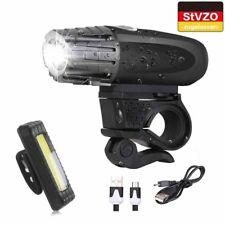 LED Fahrradbeleuchtung Set wiederaufladbares Fahrradlicht IPX5 STVZO Wasserdicht
