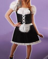 French Maid Halloween Costume for Adult, Sexy Maid Role Play Cosplay Ladies OSFM