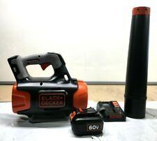 Black & Decker Lsw60C Lithium-Ion Leaf Blower 400Cfm 60V Cordless Power Boost N