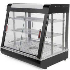 """Commercial Food Warmer Court Heat Food pizza Display Warmer Cabinet 27"""" Glass"""