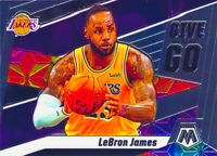 LeBron James 2019-20 PANINI MOSAIC GIVE AND GO Insert Card #8 Los Angeles Lakers