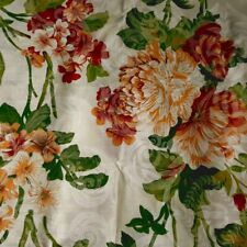 """Victorian Chintz Print Floral Damask Cream Poly Cotton Fabric 60"""" By the Yard"""