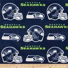 NFL Fleece Seattle Seahawks Dark Blue by the yard