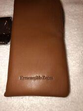 ermenegildo zegna sunglass Zip Leather Pouch Leather Brown
