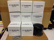 12 pcs Genuine OEM Subaru Oil filter 15208AA031 & Crush washer ALL 6 Cyl Engines