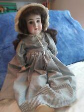 """Antique Kestner 17"""" German Bisque Shoulder Head Doll Marked Made Germany C 1/2"""