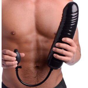 Master-Series-Huge-Large-Anal-Black-XXL-Inflatable-Dildo-Dong-Ass-Butt-Plug-Cock