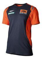 KTM Mens Replica Tee Blue Orange Cotton T-Shirt New
